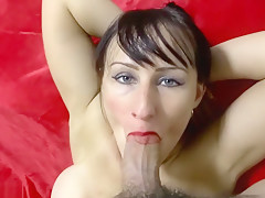 A Milf Is Swallowing Cum