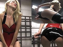 Rosalie in Red Peak increased by Stockings - LatexHeavenVideo